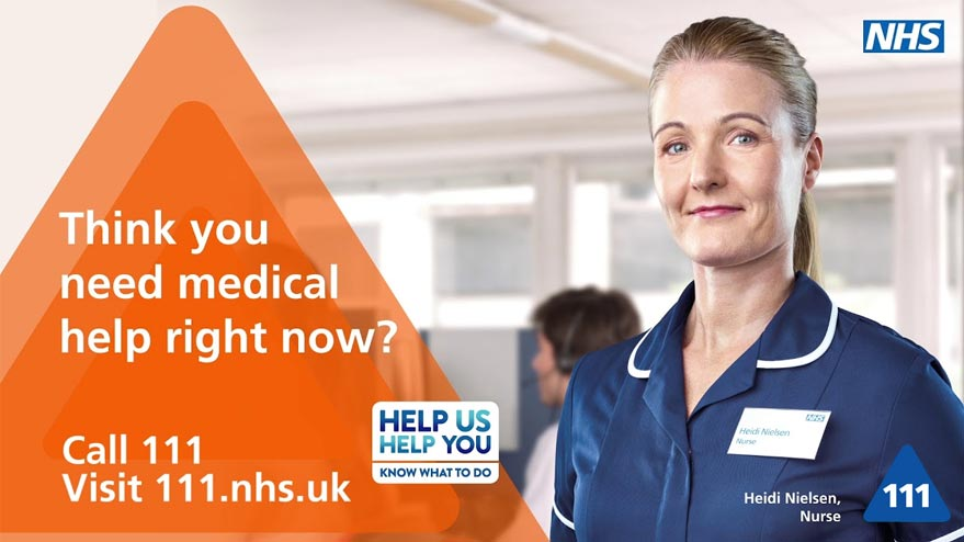 Think you need medical help right now? Call NHS 1 1 1 or visit 111.nhs.uk