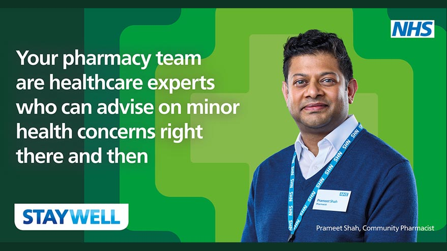 Your Pharmacy team are healthcare experts